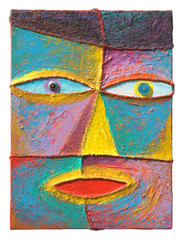 Face 12_2004_Acrylic on canvas