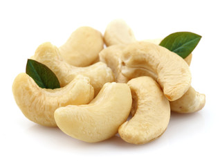Cashew with leaves