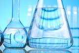 Blue chemistry vials, Laboratory