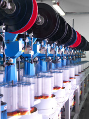 detail of thread factory production line