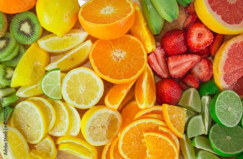 Aluminium Vruchten fruit background