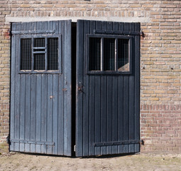 Doors of an old neglected barn