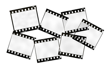 frame of 35mm. film strip, isolated on white