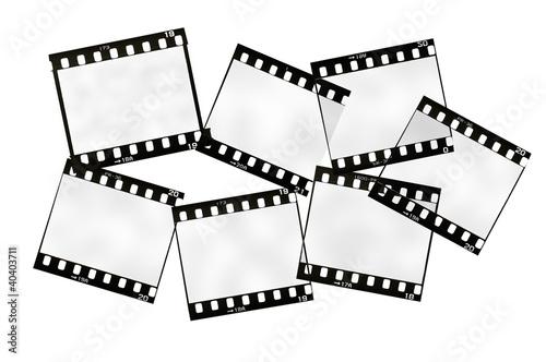 Papiers peints Retro frame of 35mm. film strip, isolated on white