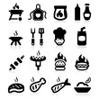 Barbeque icons set - Elegant series