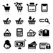 Shopping icons set elegant series
