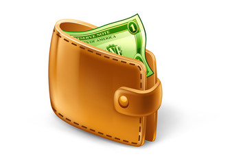 Wallet with dollar