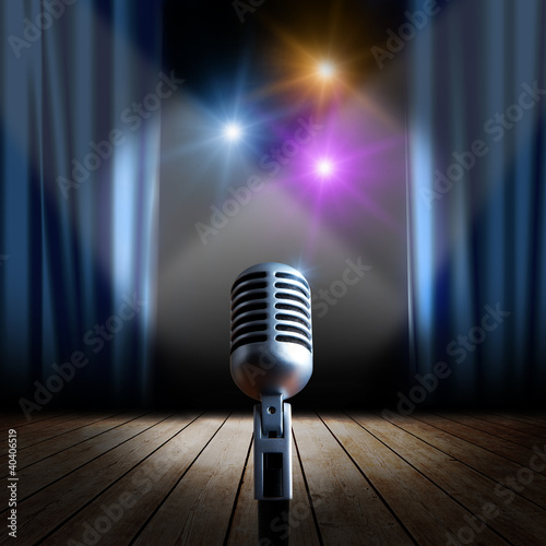 Stage and retro microphone