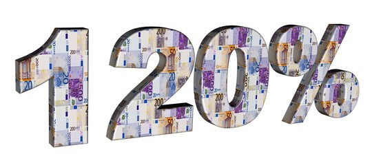 3D Geldschrift - 120 %
