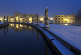 Italy, Padua: Prato della Valle square by night