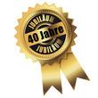 40 Jahre - Jubiläum gold