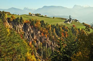 Renon, Piramidi di Terra e Monte di Mezzo, Alto Adige