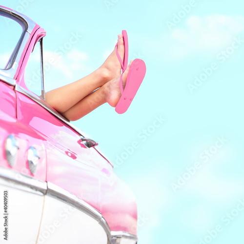 Summer fun vintage car