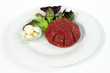 Steak tartare with garlic