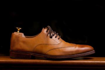 Mens Tan Dress Shoe