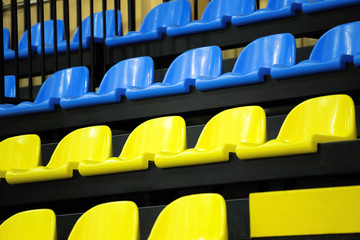 Multi-colored armchairs for fans of sports actions