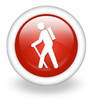 "Light Red Icon ""Hiking"""