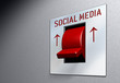 social network and media concept, switch