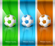 abstract colorful football banners set vector