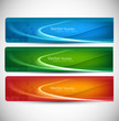 abstract modern website banner set vector