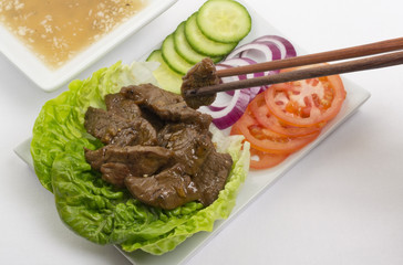 Cambodian (Loc Lac)/Vietnamese (Bo Luc Lac) - Beef Salad