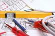 Utensilien für Elektriker