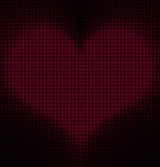 Glowing Heart Vector Background
