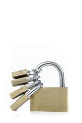 Metal padlocks