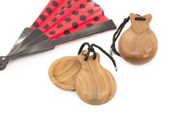 Castanets with fan