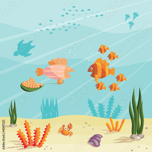 Life of small fishes