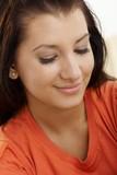Closeup portrait of smiling girl