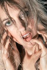 Erotischer Frauen Close up