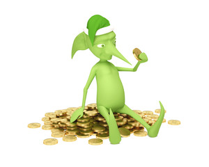 Magic elf with money