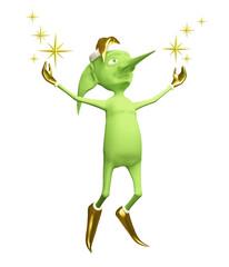 Magic elf with stars