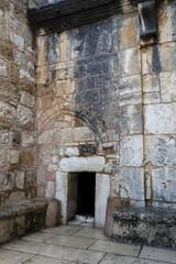 Entrance to the Church of the Nativity, Bethlehem, Palestine