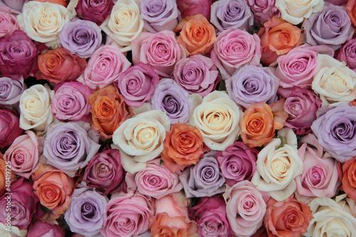 Papiers peints Lilac Pastel rose wedding flowers