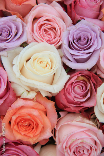 Keuken foto achterwand Lilac Pastel rose wedding flowers