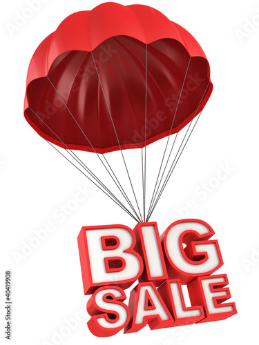 big sale 3d letters on parachute