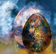 art abstract background with egg