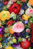 Fototapety mixed summer flowers