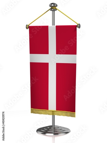 Denmark table flag isolated on white