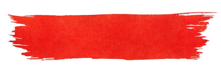 Red stroke of paint brush