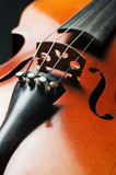 Сloseup of strings and sound board of a violin poster