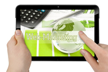 Tablet mit Web-Marketing