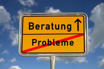 Deutsches Ortsschild Probleme Beratung