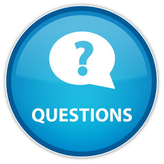 Questions blue button