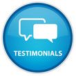 """Testimonials"" blue button"