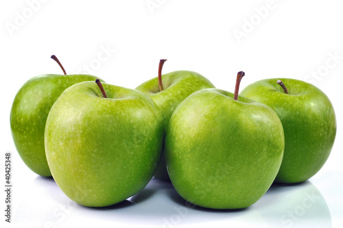 Five Green Apples
