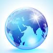 Middle East & Asia Globe