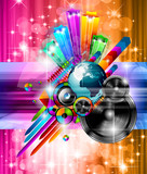 Poster Background for music disco event